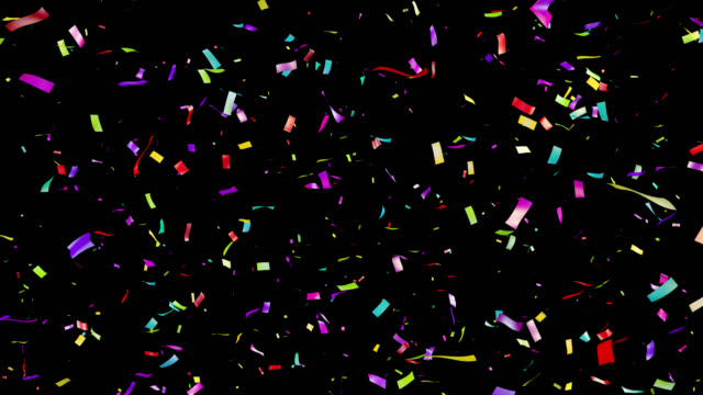 Multicolored confetti falling. Loopable. video