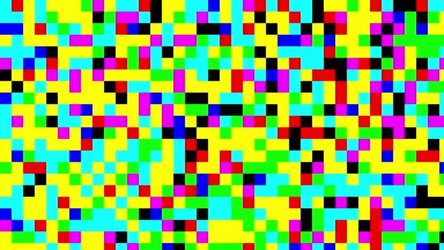 Multicolored digital squares background video