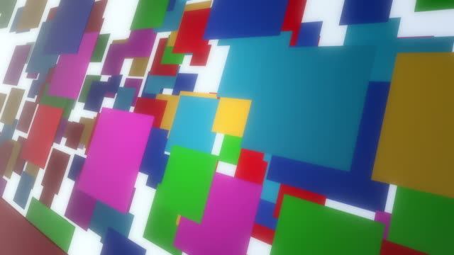 Multi-Colored Flying 3D Rectangles In Empty Space video
