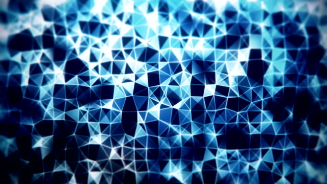 Multicolored funky abstract loopable mosaic background footage with triangles