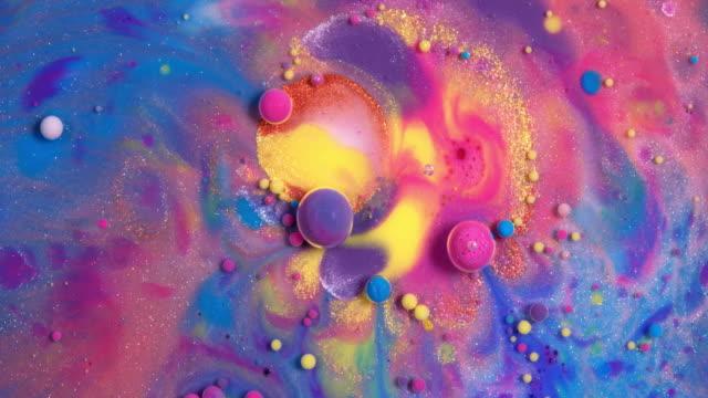 multicolored paint movements - tavolozza video stock e b–roll