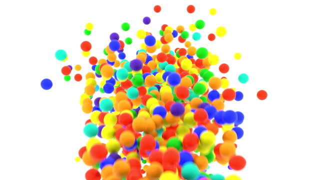 Multi-colored plastic balls falling in front of camera in slow motion Children's multi-colored plastic balls falling in front of camera. Slow motion. Increase speed as of 5 times to get actual speed. competition group stock videos & royalty-free footage