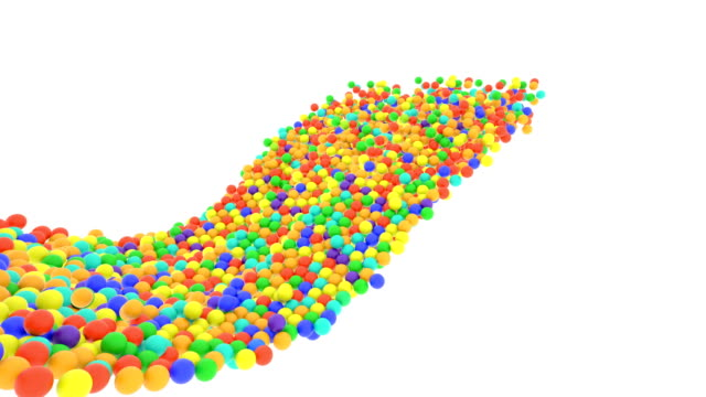 Multi-colored plastic balls flying in perspective in slow motion Multi-colored plastic balls flying in perspective. Slow motion. Colored plastic balls can be used as childhood or happiness illustration. competition group stock videos & royalty-free footage