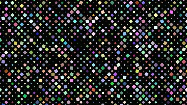 stockvideo's en b-roll-footage met veelkleurige vierkante achtergrond - naadloze loops beweging afbeelding roteren - naadloos patroon