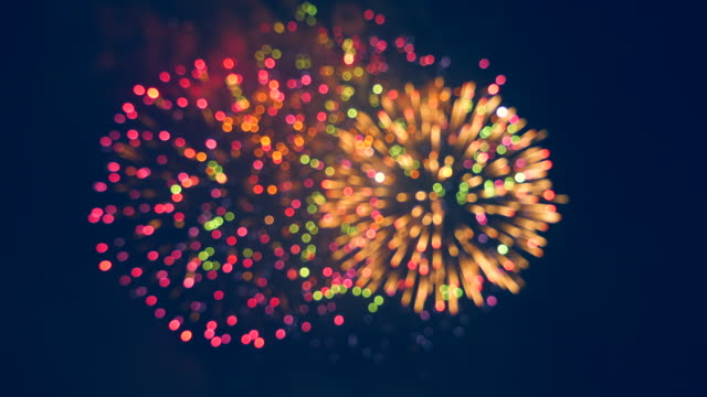 Multicolour fireworks explosions in the sky Multicolour fireworks explosions in the sky. 4K happy 4th of july videos stock videos & royalty-free footage