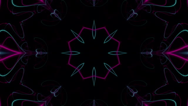 Multicoloured Kaleidoscopic Loop video
