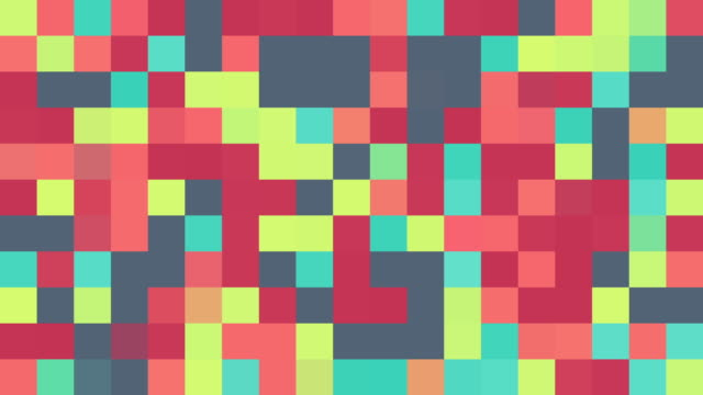 Multicoloured Squares | Turquoise, Pink, Red, Blue, Green, Purple, Orange and Yellow | Colours Change with Random Generative Flicker Effect video