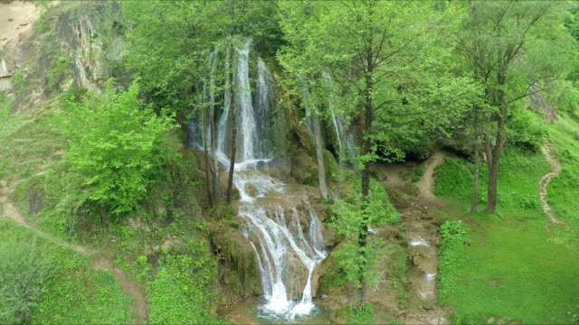 Multicopter Aerial Shot Of Beautiful waterfall video