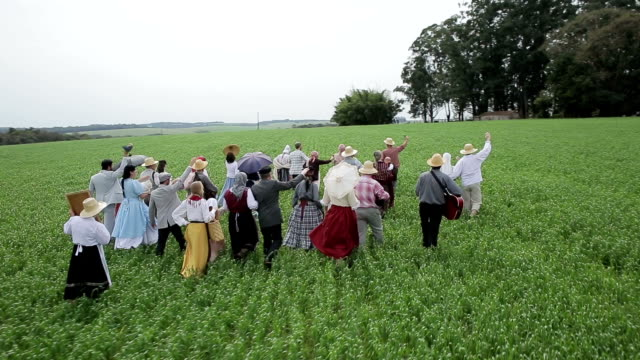 Multi-ethnic Countryside People video