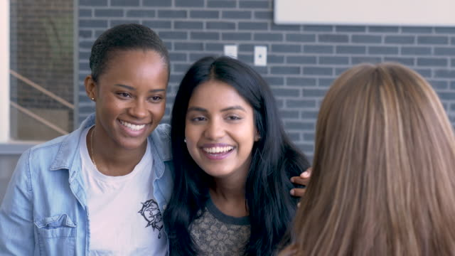 Multi-Ethnic Group of University Hanging Out video