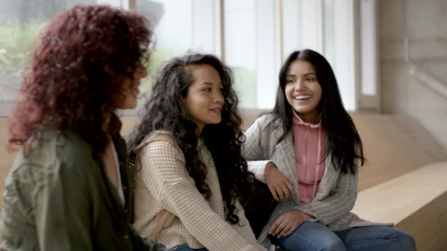 A multi-ethnic group of university students video