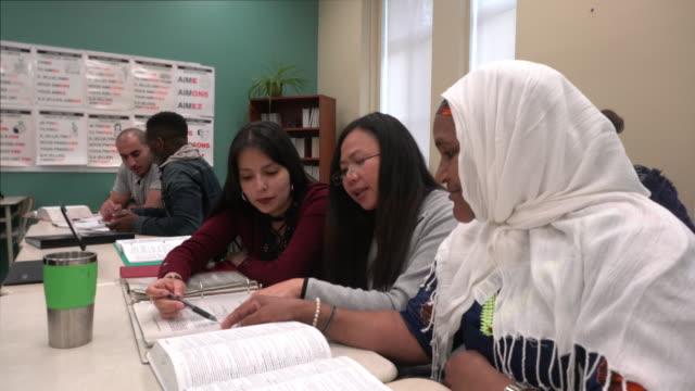 Multi-Ethnic group Portrait Adult School Inside Class Teamworking