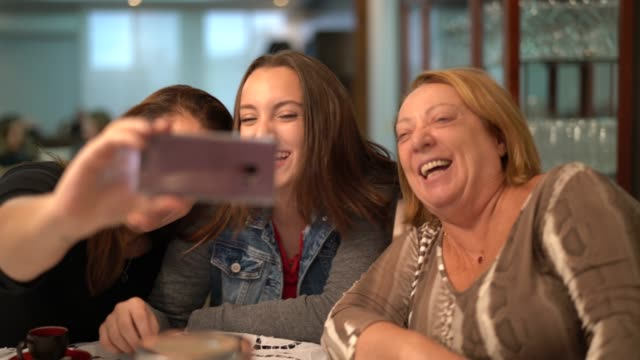 Multi-Generation Family Taking a Selfie Domestic Life candid stock videos & royalty-free footage
