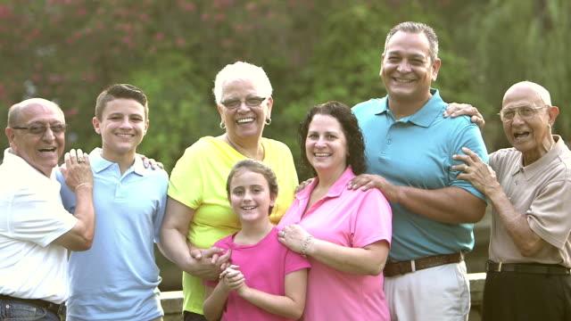 Multi-generation Hispanic and Caucasian family video