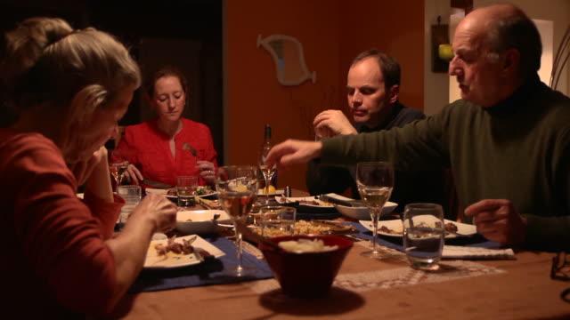 Multi-Generational Dinner - Multi Clip video