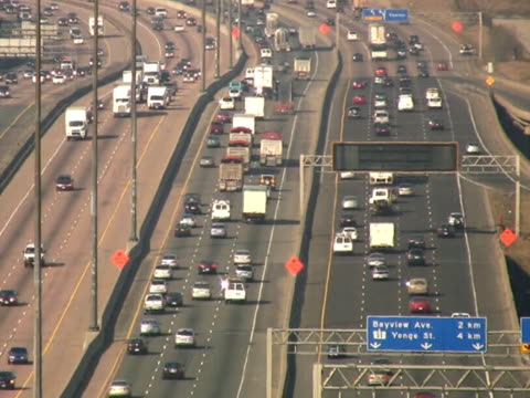 Multi-lane highway. video