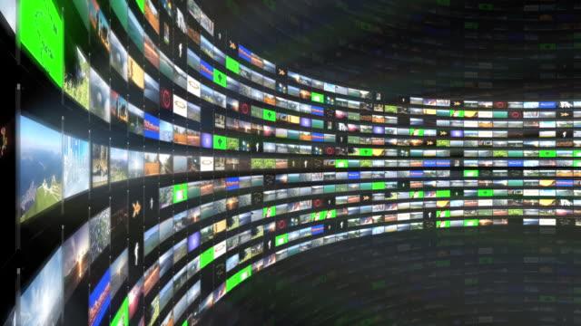 Multimedia TV Wall editing 3D animation