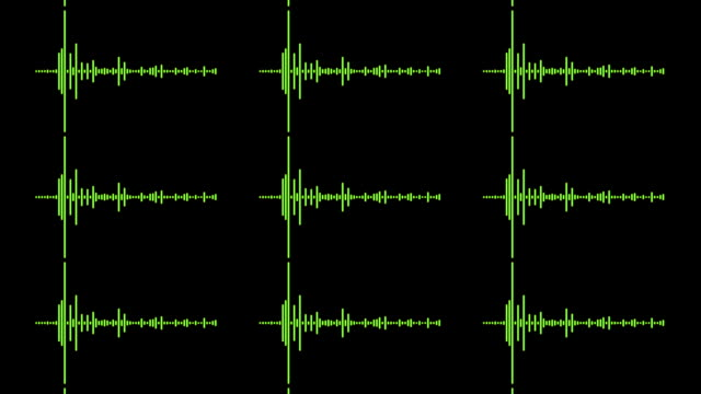 mehrere audio-wellen - sound wave stock-videos und b-roll-filmmaterial