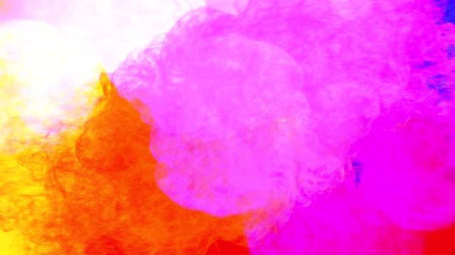 mehrfache explosion von partikeln und mischen ineinander, 2d animation grafik - bunt farbton stock-videos und b-roll-filmmaterial