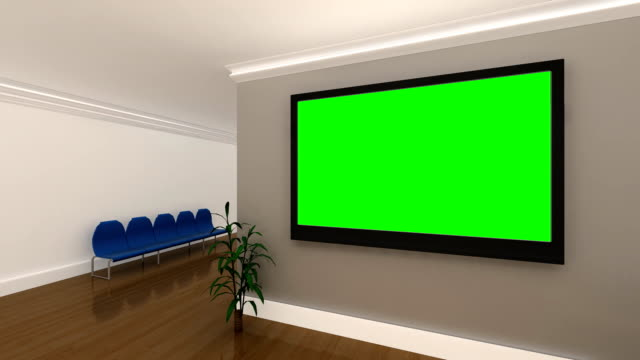 Multiple Green Screen Background Interior Office Animations video