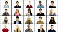 istock Multiple People portrait montage Squares on White grid 473363933