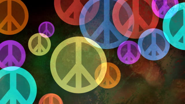 Multiple versions (3) Colorful Backgrounds Made from Peace Symbols video