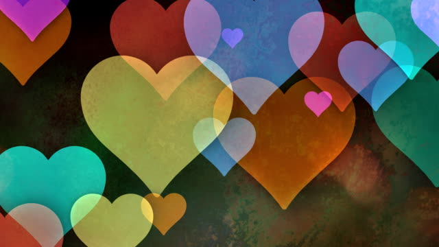 Multiple versions (3) Colorful Copy Spaces made from Hearts Multiple versions (3)  valentines day stock videos & royalty-free footage