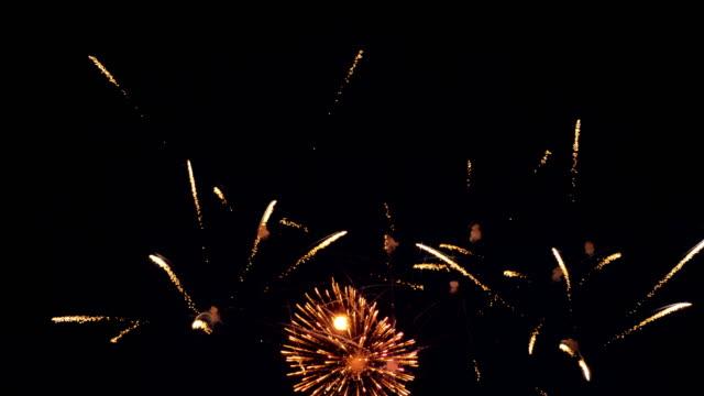 Multiple vivid fireworks. video