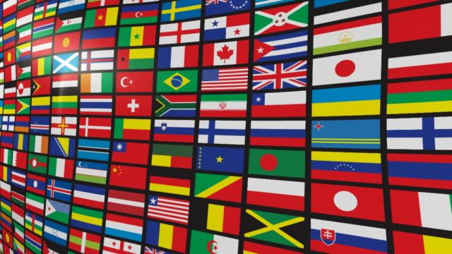 複数の世界の国旗 - 豊富点の映像素材/bロール