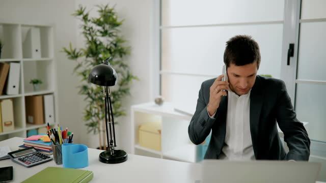 multi-tasking businessman - serbia video stock e b–roll
