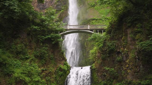 Multnomah Falls, Oregon, USA located in the Columbia River Gorge