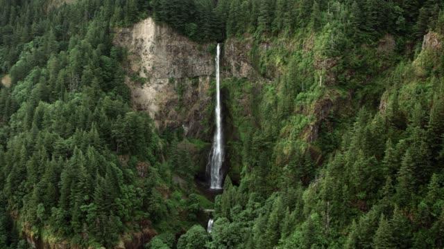 AERIAL Multnomah Falls