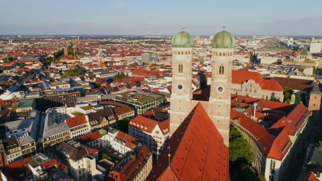 Munich Aerial Frauenkirche Germany