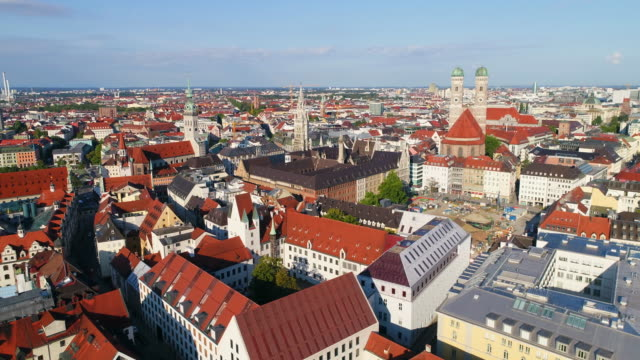 Munich Aerial Old town Germany