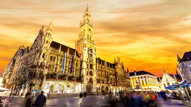 München bei Sonnenuntergang, Zeitraffer – Video