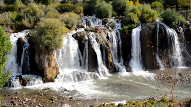 Muradiye Waterfalls with sound/audio video