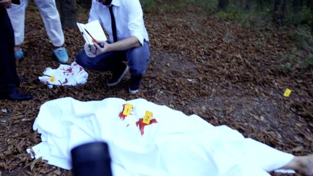 Murder scene 4K video