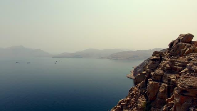 무산담 반도, 오만 - oman 스톡 비디오 및 b-롤 화면