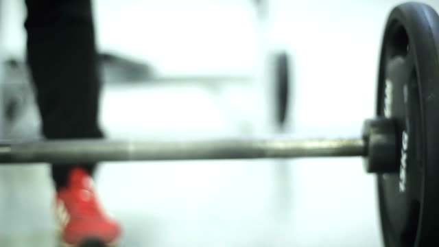Muscular Man Lifting In Gym video