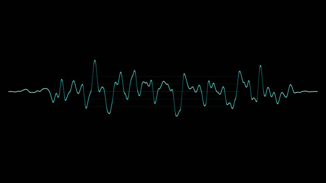 musik-audio-welle. abstrakte blaue wellige linie. equalizer-schallwelle. - sound wave stock-videos und b-roll-filmmaterial