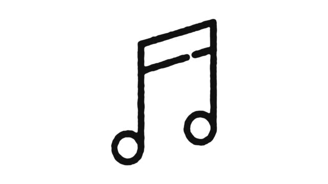 Music Composing Icon Animation Footage & Alpha Channel Music composing outline icon animation footage/video. Hand drawn like symbol animated with motion graphic, can be used as loop item, has alpha channel and it's at 4K video resolution. classical concert stock videos & royalty-free footage