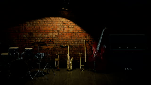 music instruments. 3D Rendering video