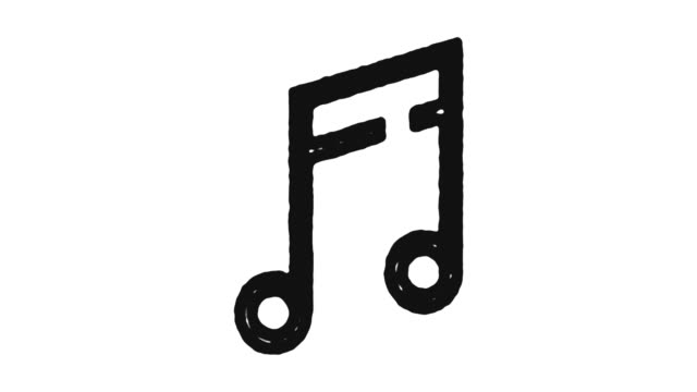 Music Note Icon Animation Footage & Alpha Channel