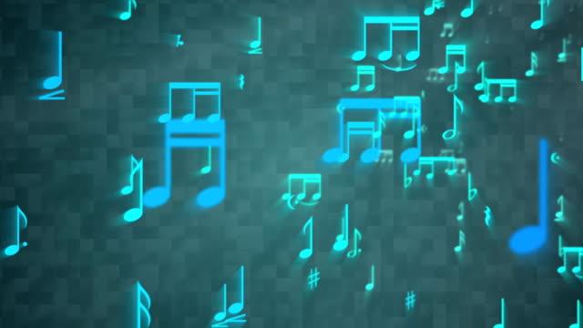 Music Notes Backgorund - Loop video