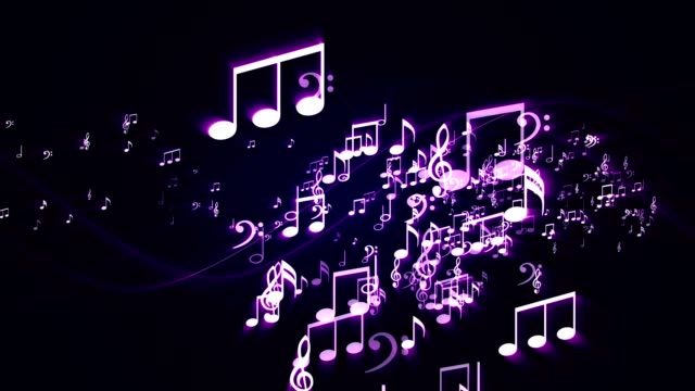 Music Notes Background Random, Animation video