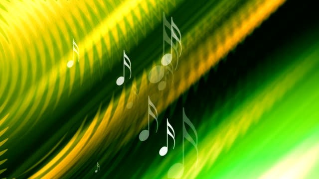 music notes in rippled background video
