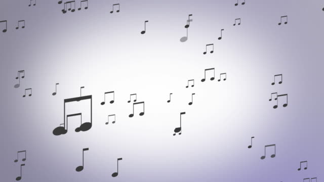 Music Notes Looping Background video
