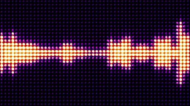 musik vågor, ljus lökar animering, rendering, bakgrund, loop - kokosfiber bildbanksvideor och videomaterial från bakom kulisserna