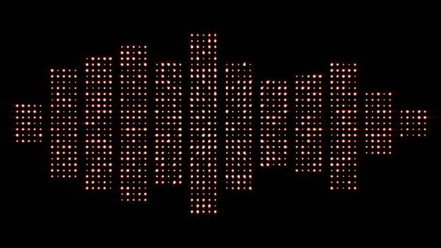 musik vågor, ljus lökar animation - kokosfiber bildbanksvideor och videomaterial från bakom kulisserna