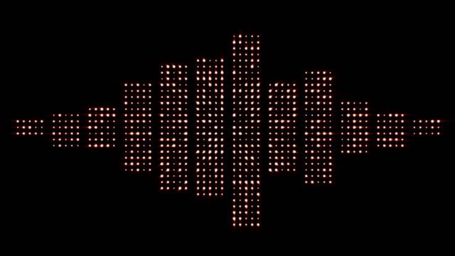 Music Waves, Radio, Lights Bulbs Animation, Rendering, Background, Loop video